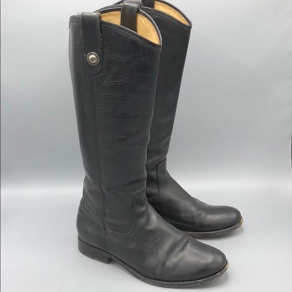 f8cf6031309 Frye Shoes - Frye Melissa Lug Button Black Leather pull on 7.5
